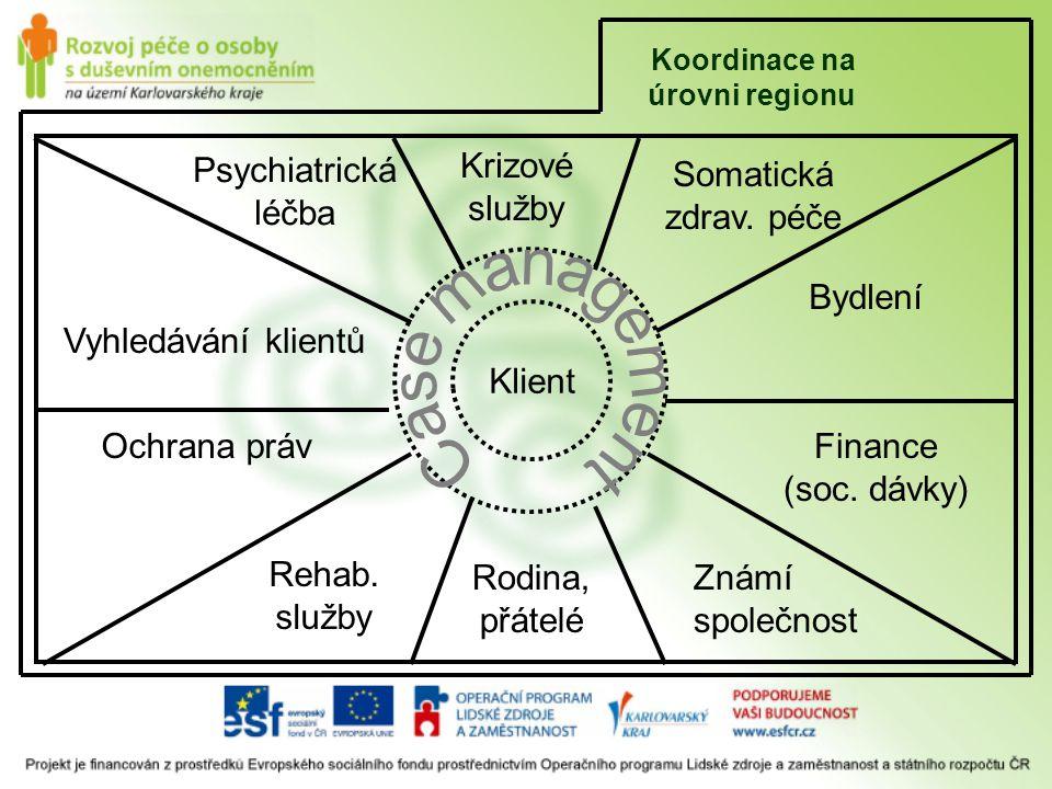 Psychiatrická léčba Krizové služby Somatická zdrav. péče Bydlení
