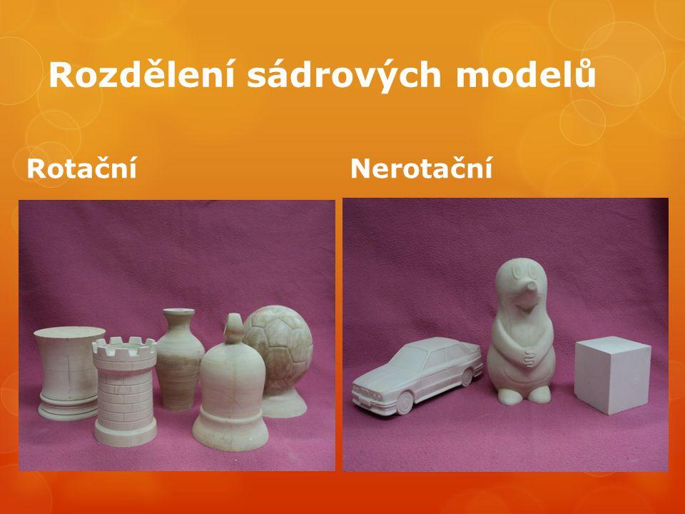 Rozdělení sádrových modelů