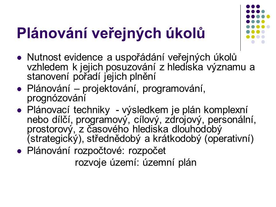 Plánování veřejných úkolů