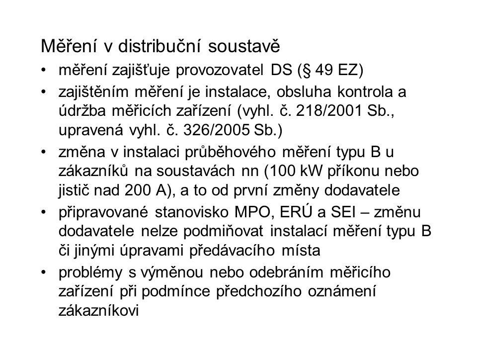 Měření v distribuční soustavě