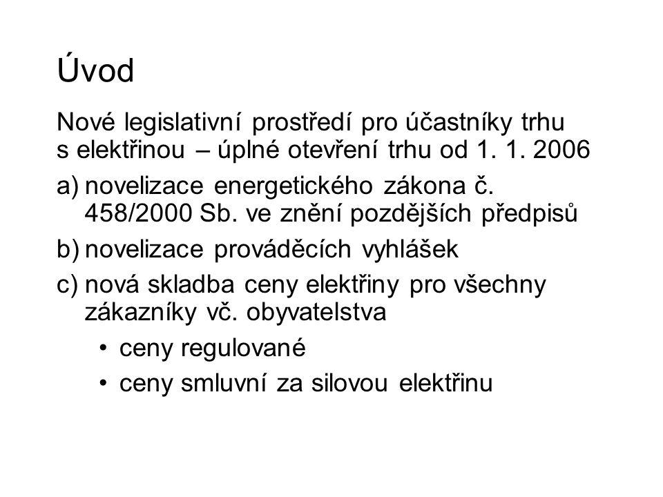 Úvod Nové legislativní prostředí pro účastníky trhu