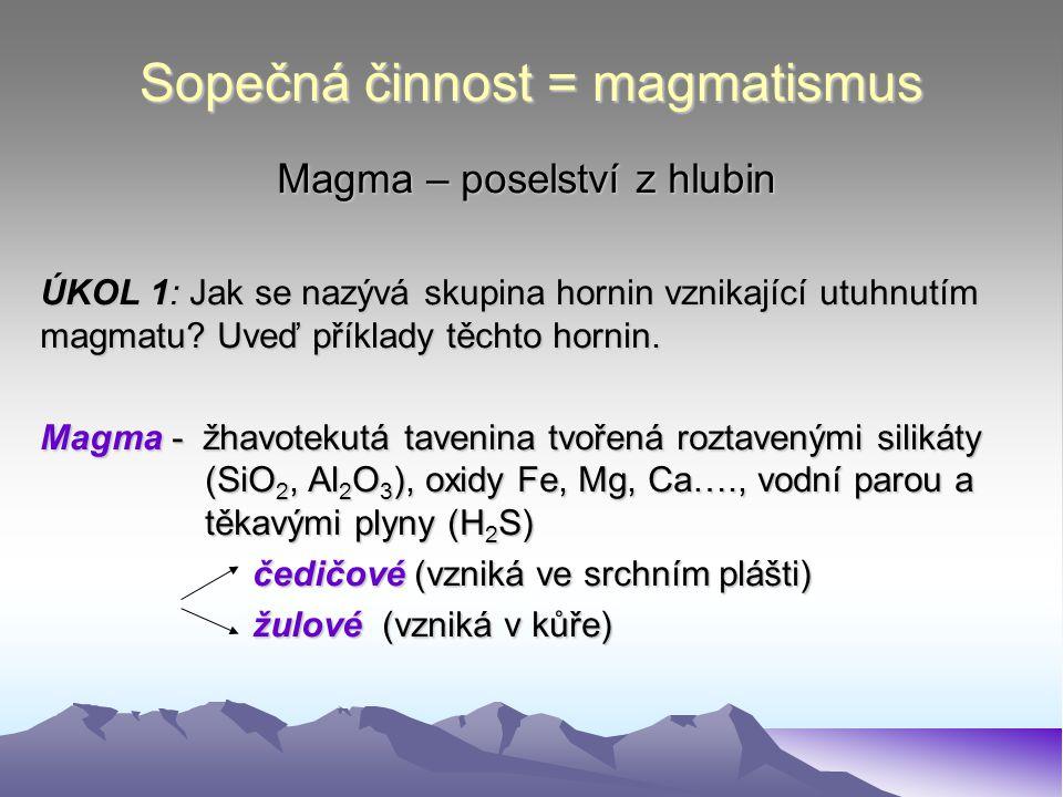 Sopečná činnost = magmatismus