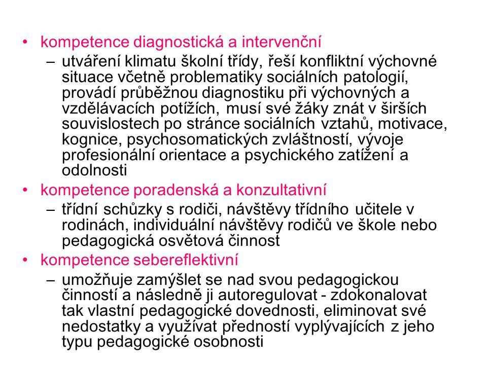 kompetence diagnostická a intervenční