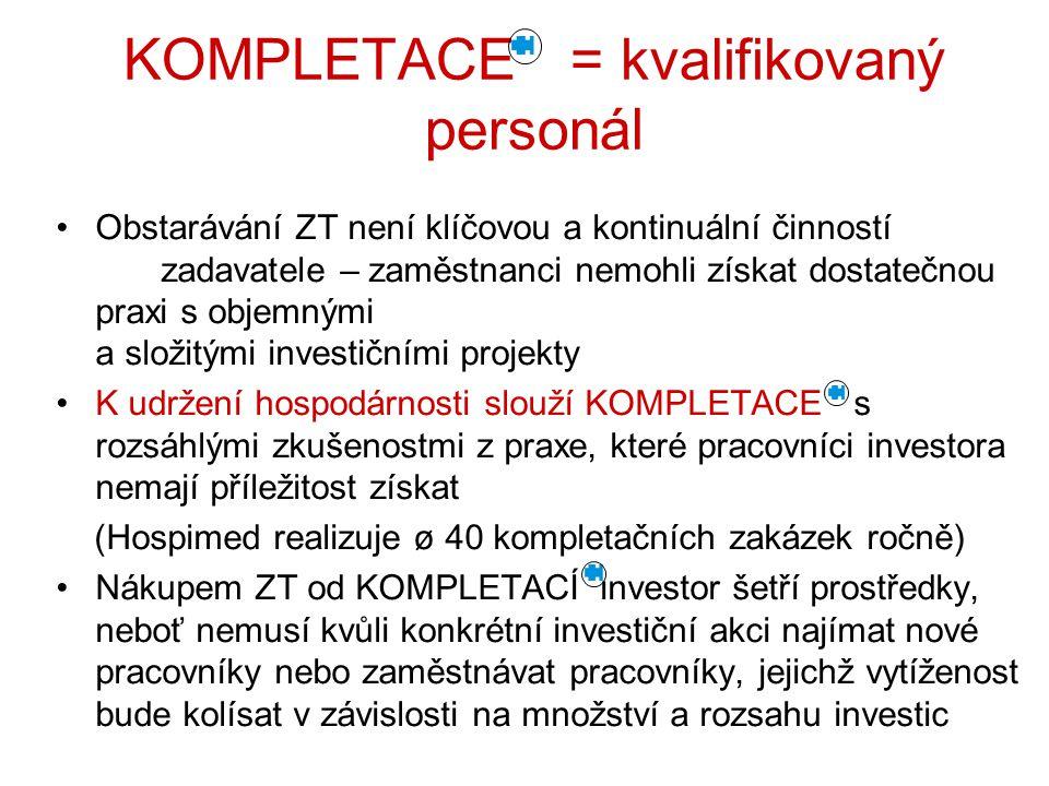 KOMPLETACE = kvalifikovaný personál