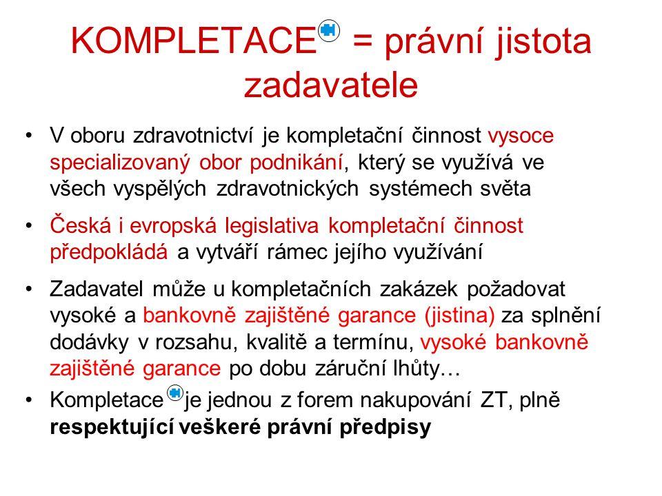 KOMPLETACE = právní jistota zadavatele