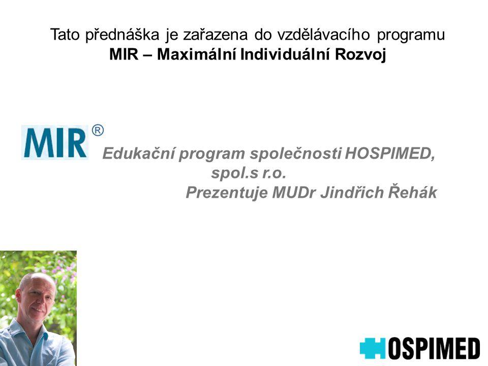 Edukační program společnosti HOSPIMED, spol.s r.o.