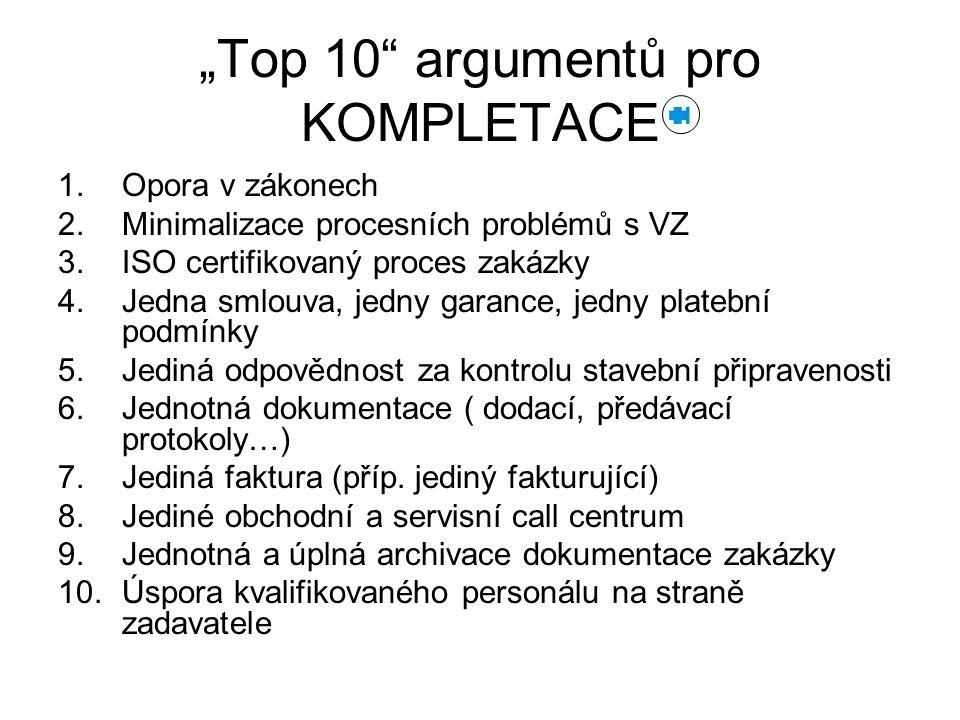 """""""Top 10 argumentů pro KOMPLETACE"""