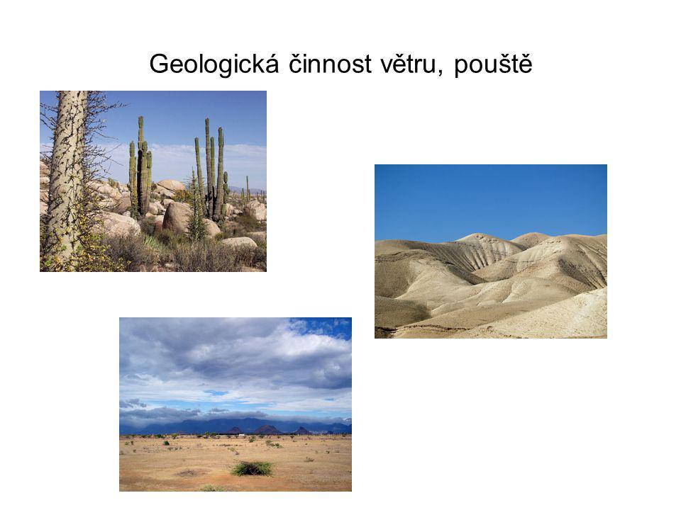 Geologická činnost větru, pouště