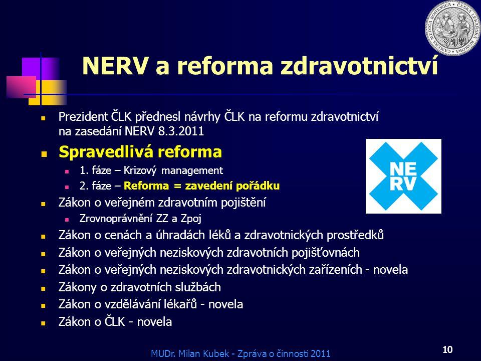 NERV a reforma zdravotnictví