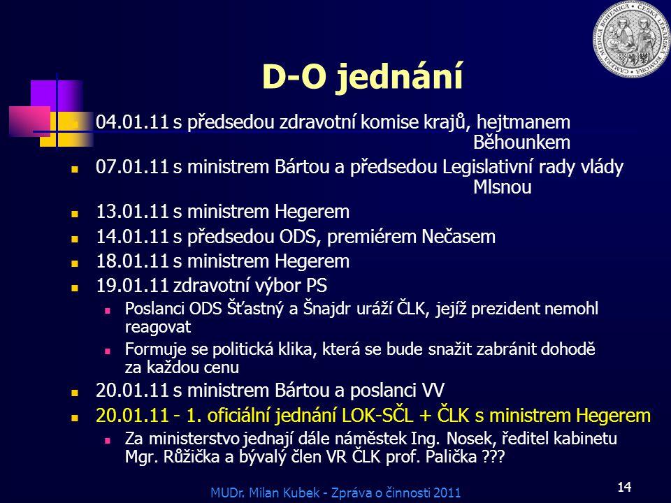 D-O jednání 04.01.11 s předsedou zdravotní komise krajů, hejtmanem Běhounkem.