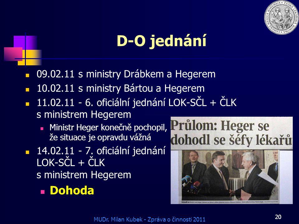 D-O jednání Dohoda 09.02.11 s ministry Drábkem a Hegerem