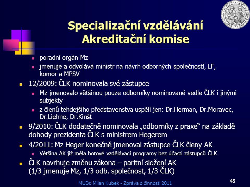 Specializační vzdělávání Akreditační komise