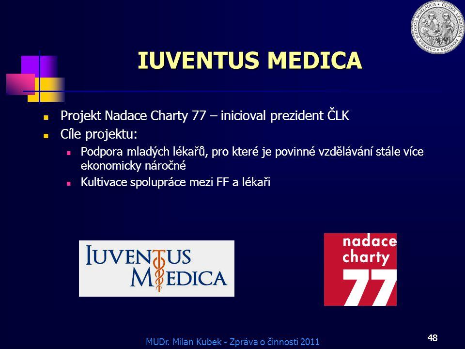 IUVENTUS MEDICA Projekt Nadace Charty 77 – inicioval prezident ČLK
