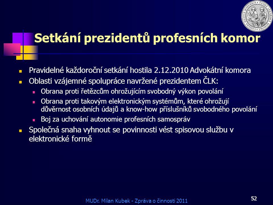 Setkání prezidentů profesních komor