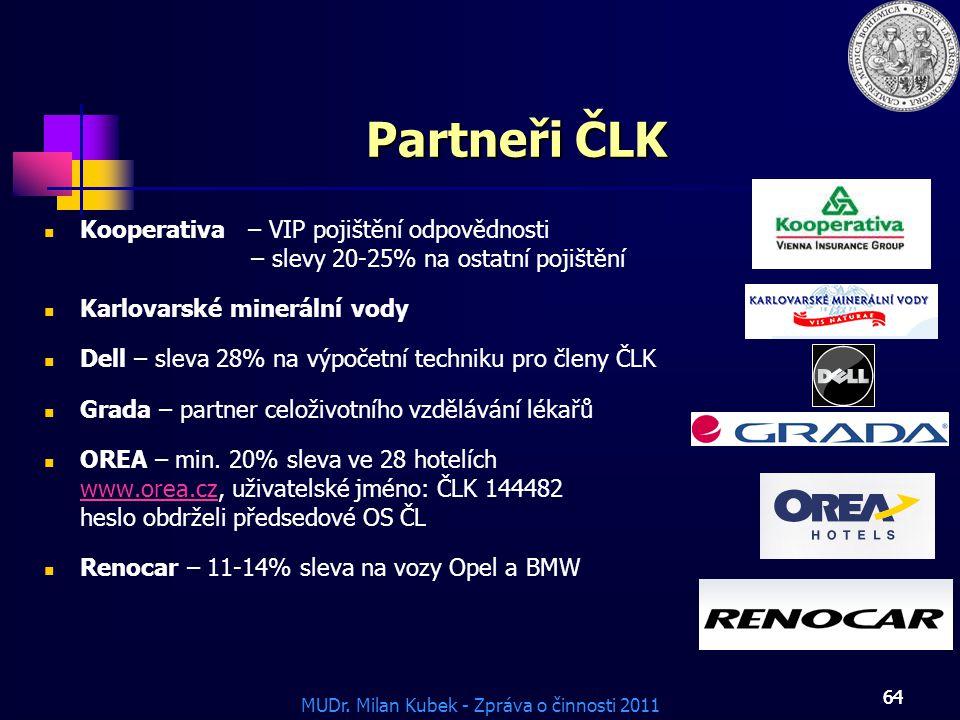 Partneři ČLK Kooperativa – VIP pojištění odpovědnosti – slevy 20-25% na ostatní pojištění. Karlovarské minerální vody.