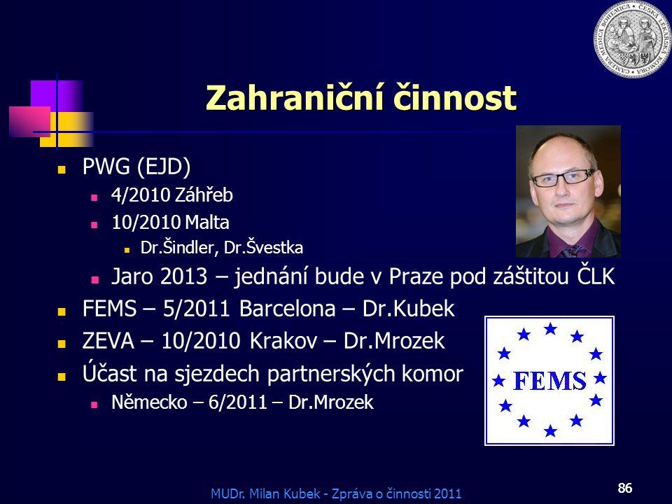 Zahraniční činnost PWG (EJD)