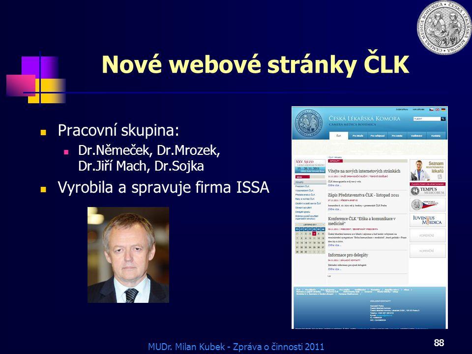 Nové webové stránky ČLK
