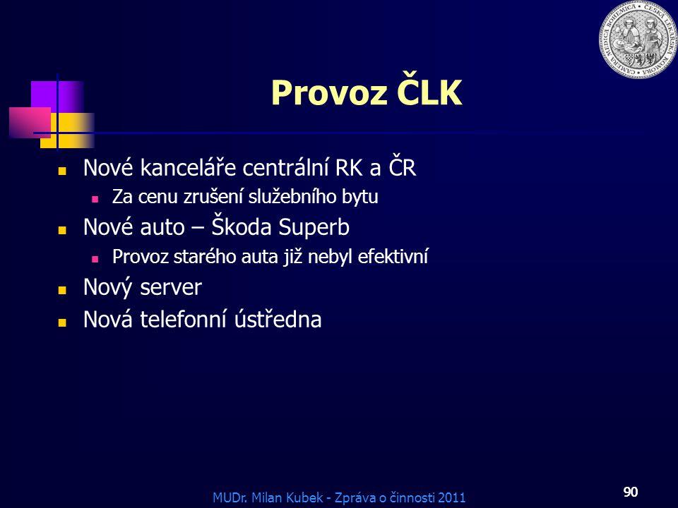 Provoz ČLK Nové kanceláře centrální RK a ČR Nové auto – Škoda Superb