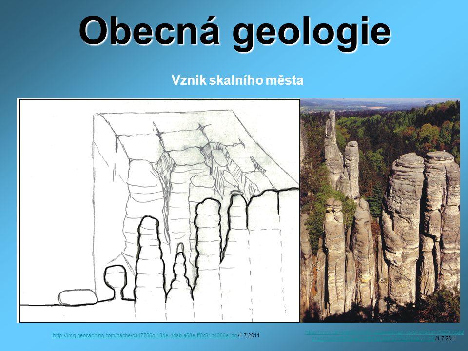 Obecná geologie Vznik skalního města