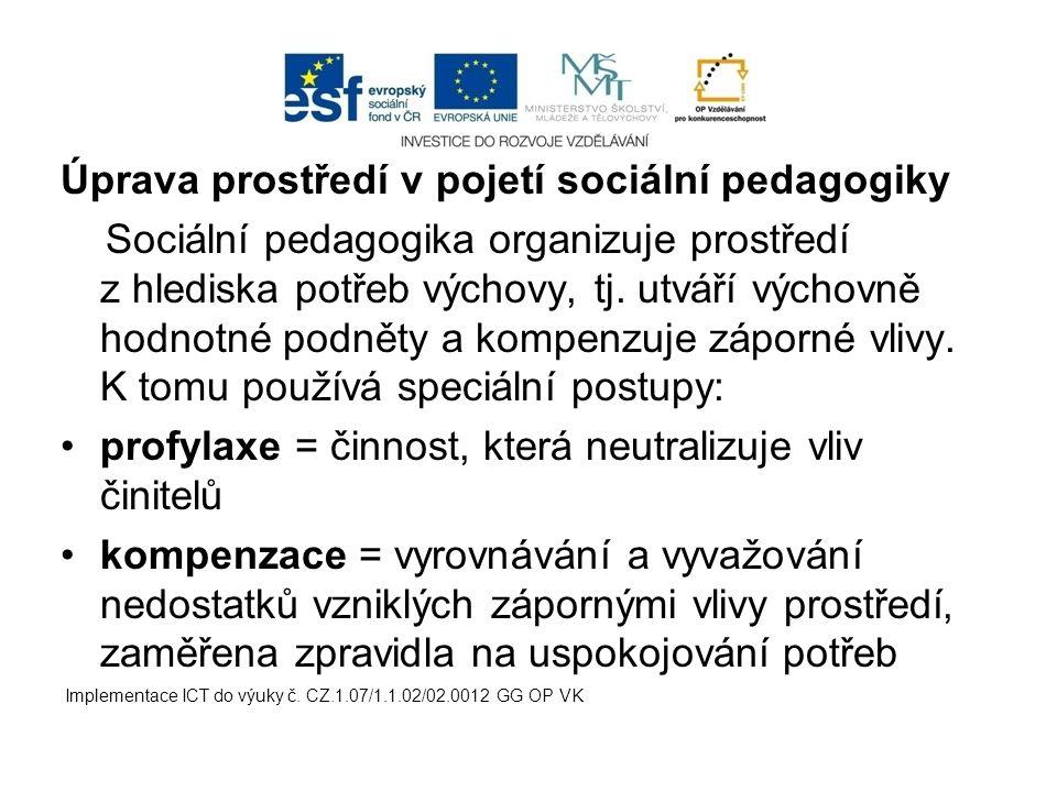 Úprava prostředí v pojetí sociální pedagogiky