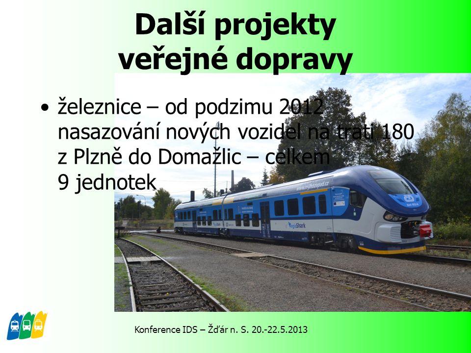 Další projekty veřejné dopravy