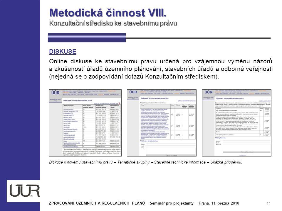 Metodická činnost VIII.