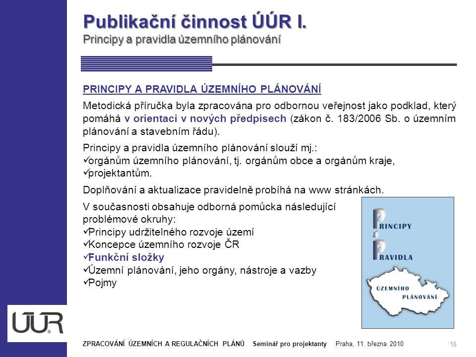 Publikační činnost ÚÚR I.