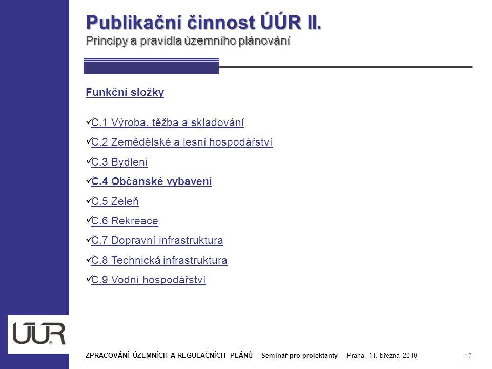 Publikační činnost ÚÚR II.
