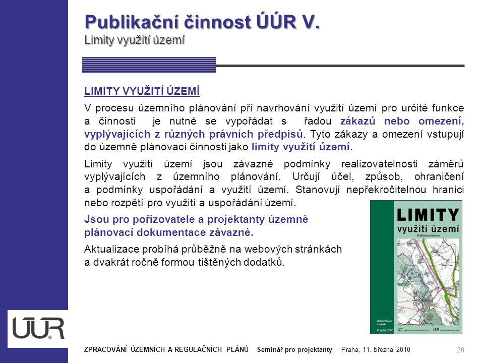 Publikační činnost ÚÚR V.