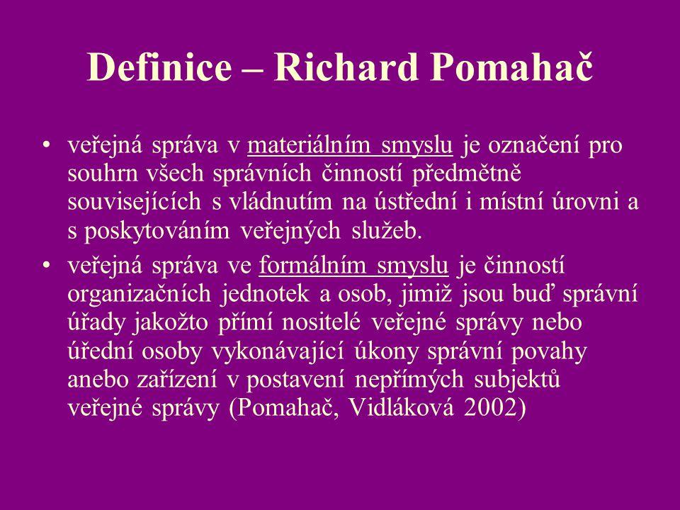 Definice – Richard Pomahač