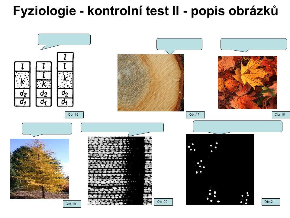 Fyziologie - kontrolní test II - popis obrázků