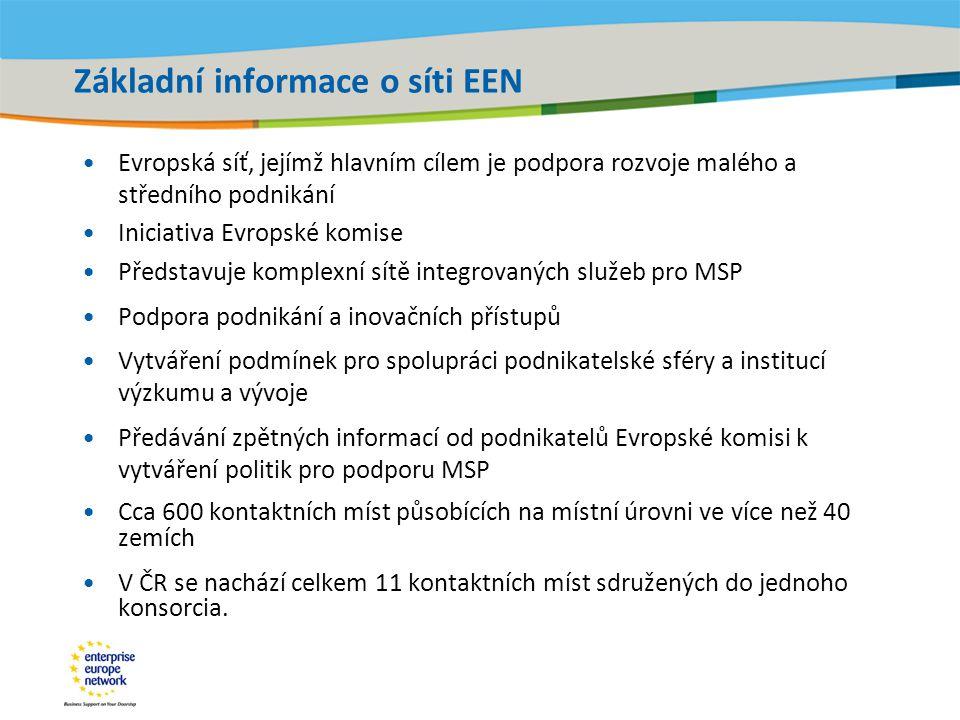 Základní informace o síti EEN