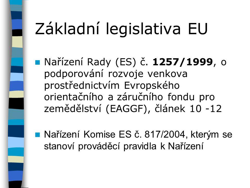 Základní legislativa EU
