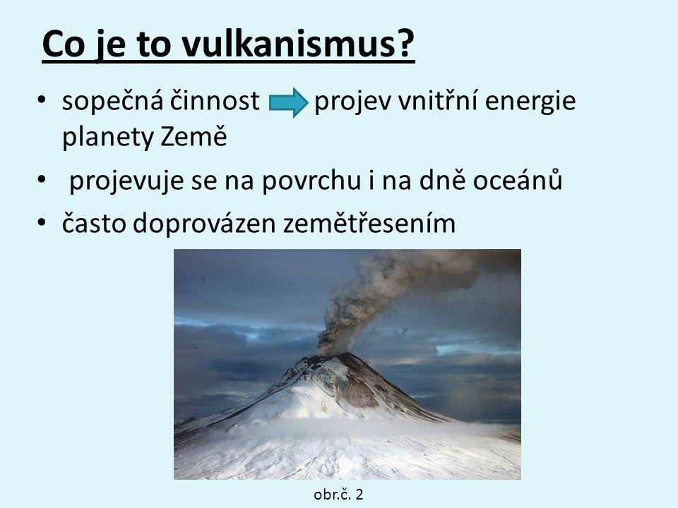 Co je to vulkanismus sopečná činnost projev vnitřní energie planety Země. projevuje se na povrchu i na dně oceánů.
