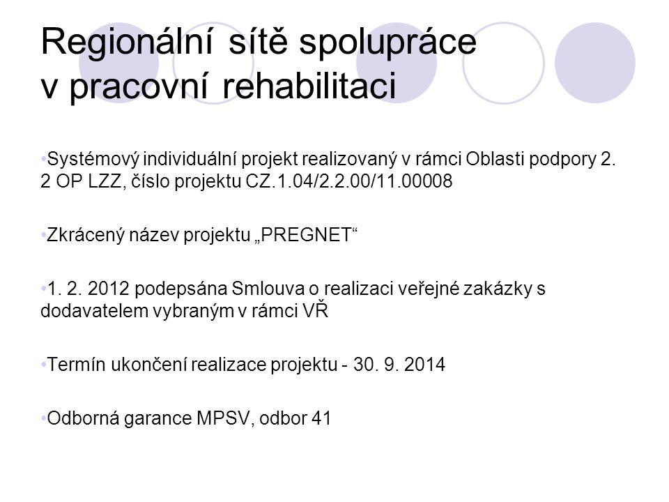 Regionální sítě spolupráce v pracovní rehabilitaci
