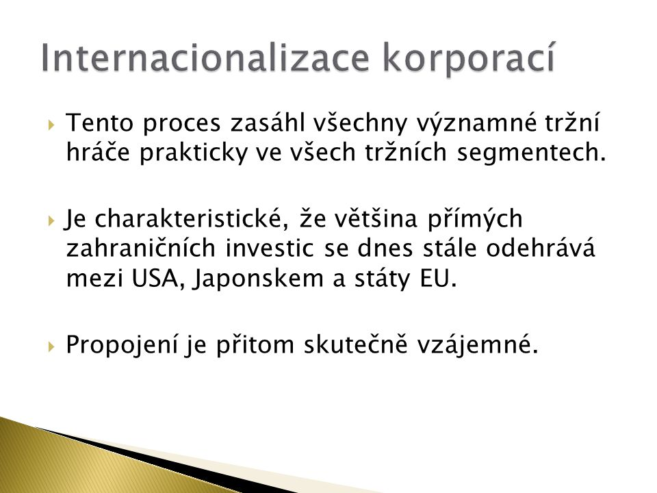 Internacionalizace korporací