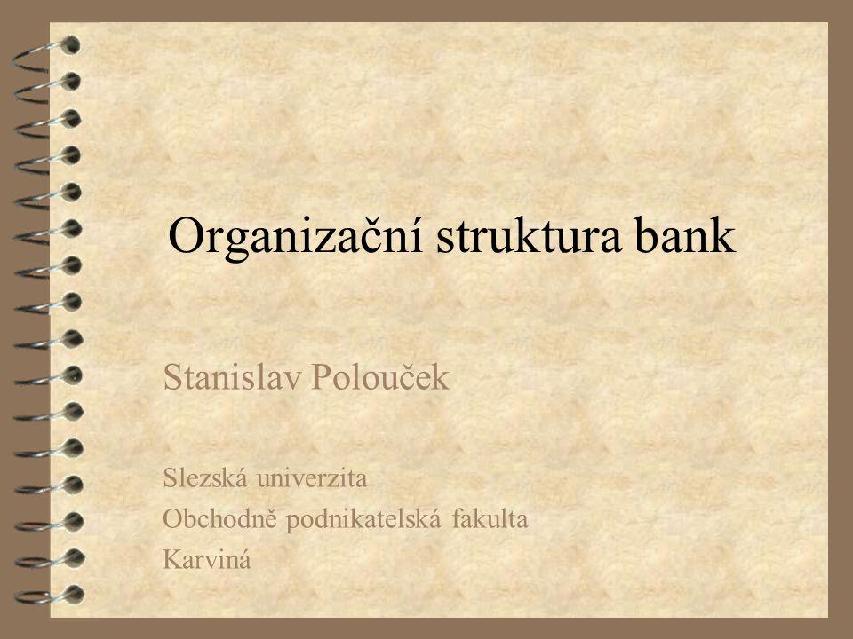 Organizační struktura bank