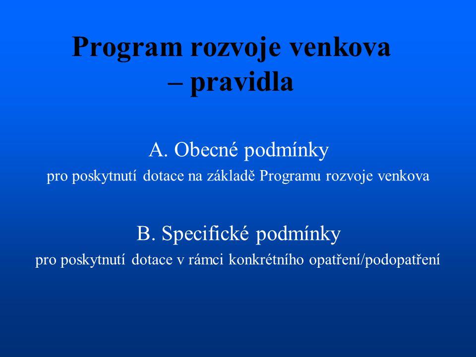 Program rozvoje venkova – pravidla