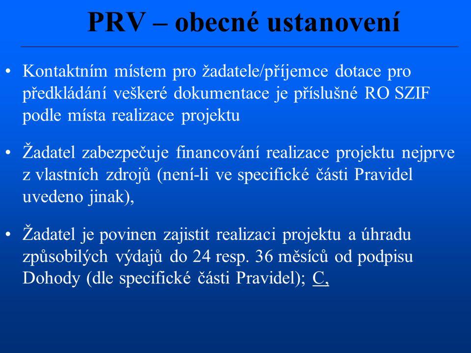 PRV – obecné ustanovení
