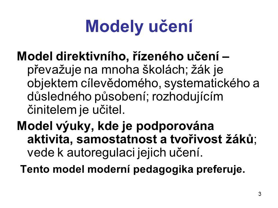 Modely učení