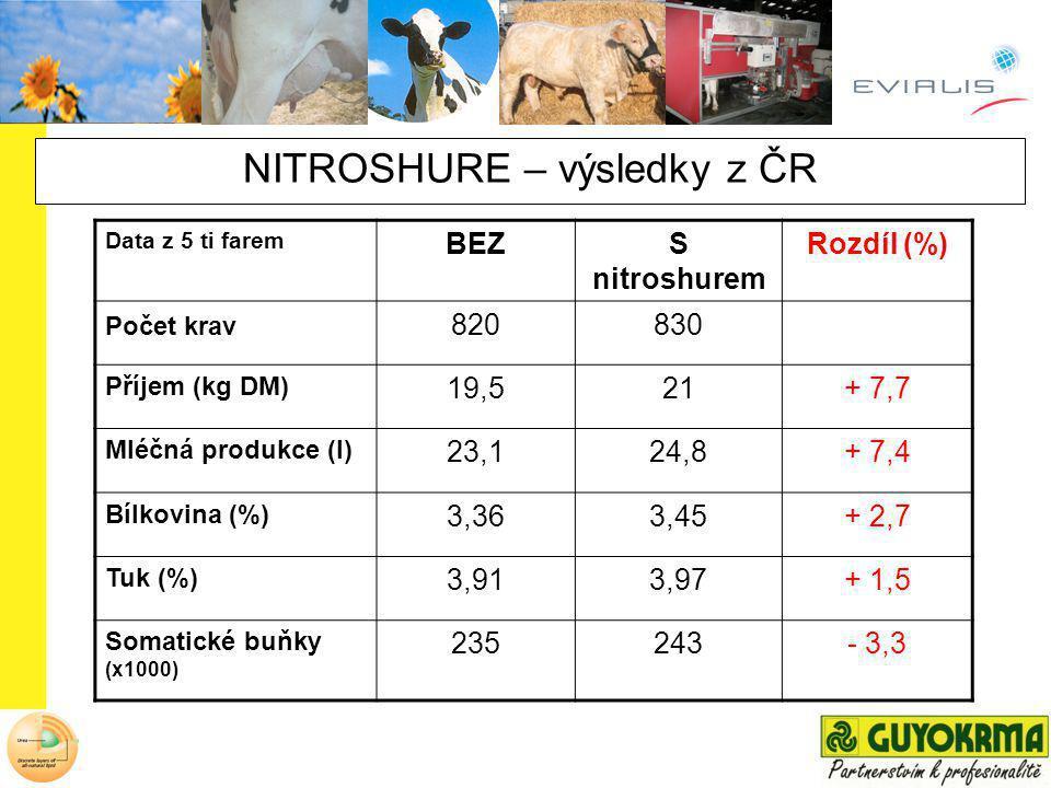 NITROSHURE – výsledky z ČR
