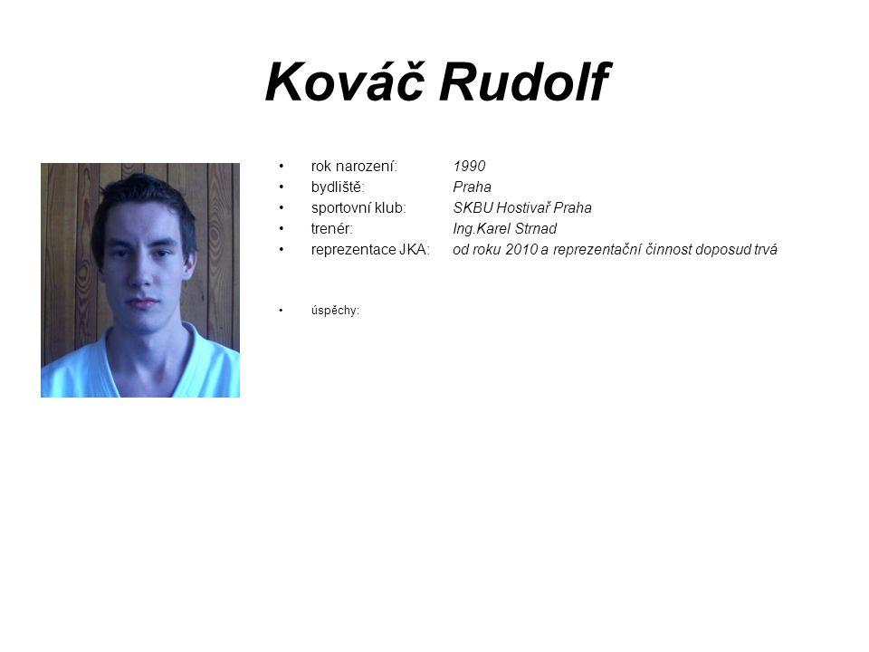 Kováč Rudolf rok narození: 1990 bydliště: Praha
