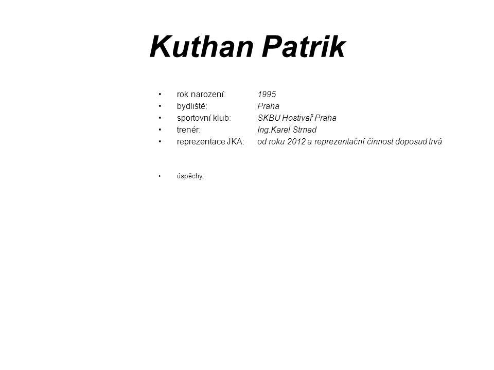 Kuthan Patrik rok narození: 1995 bydliště: Praha