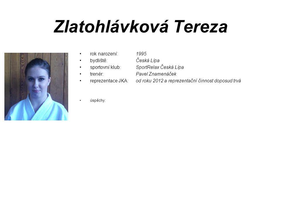 Zlatohlávková Tereza rok narození: 1995 bydliště: Česká Lípa