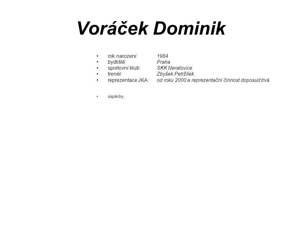 Voráček Dominik rok narození: 1984 bydliště: Praha