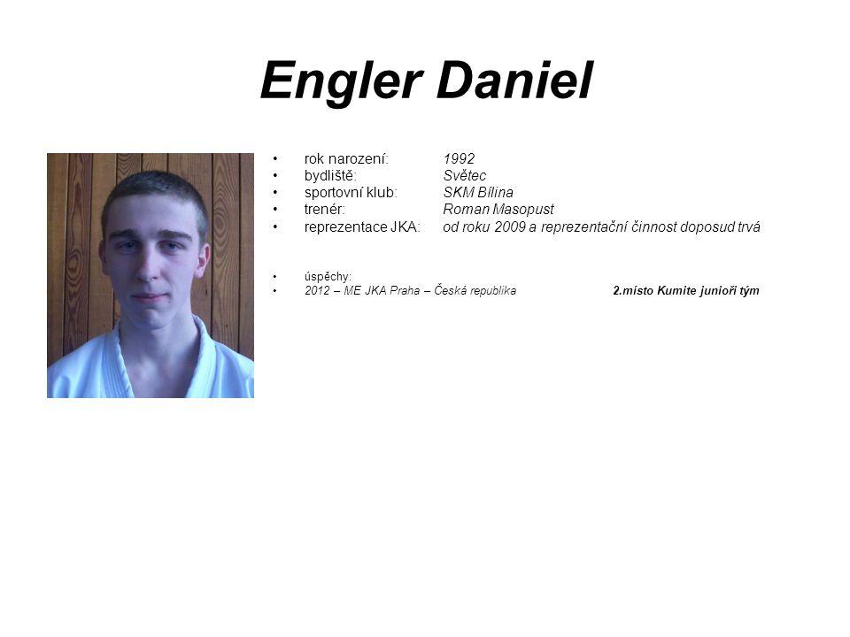 Engler Daniel rok narození: 1992 bydliště: Světec