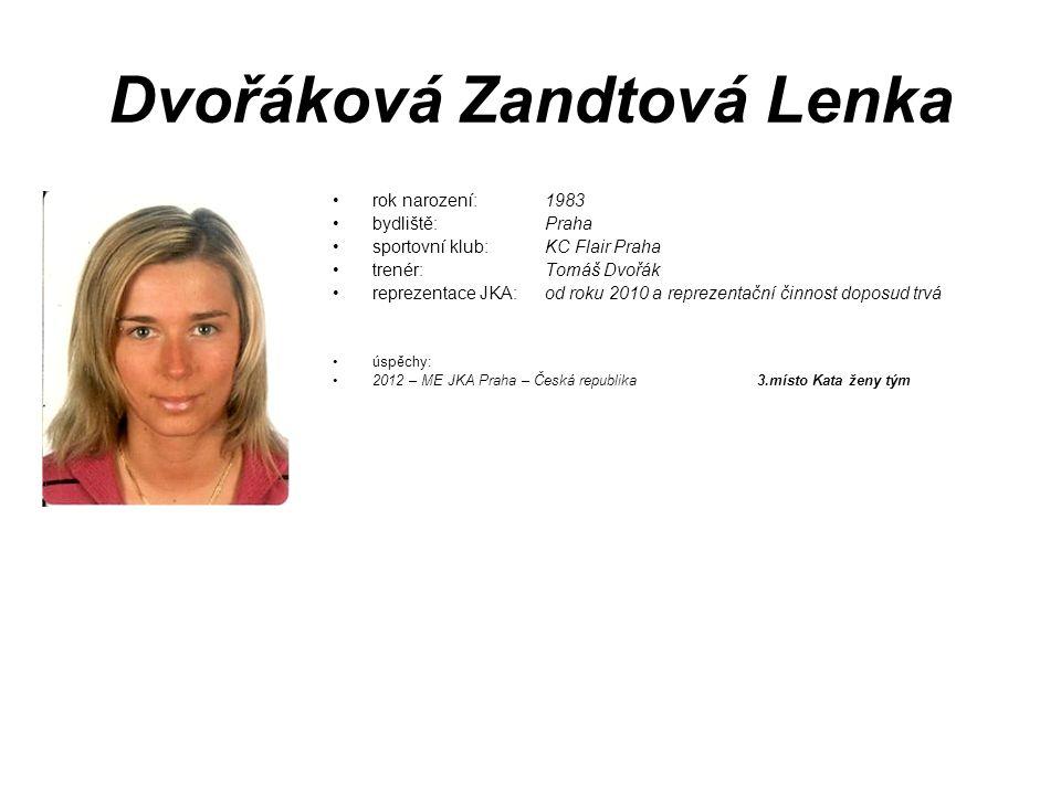 Dvořáková Zandtová Lenka
