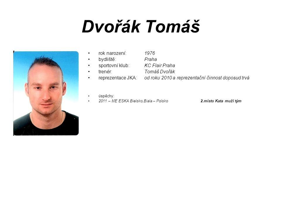 Dvořák Tomáš rok narození: 1976 bydliště: Praha