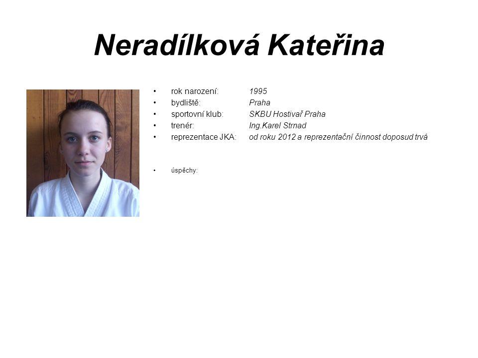 Neradílková Kateřina rok narození: 1995 bydliště: Praha