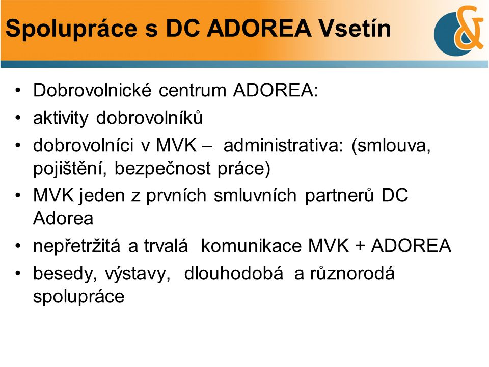 Spolupráce s DC ADOREA Vsetín
